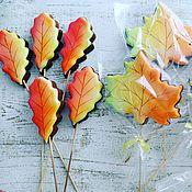 Пряники ручной работы. Ярмарка Мастеров - ручная работа Пряники: листья клена. Handmade.
