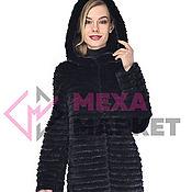 handmade. Livemaster - original item Fur mink coat with hood