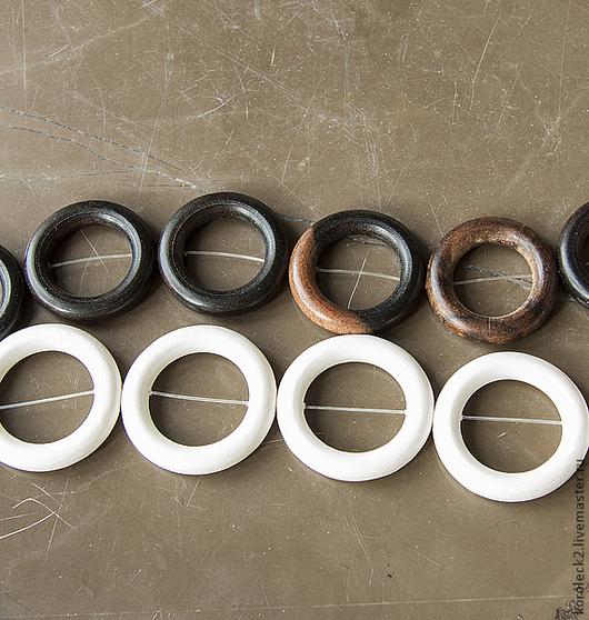 Для украшений ручной работы. Ярмарка Мастеров - ручная работа. Купить Бусины-кольца из дерева ручной работы. Handmade. Дерево