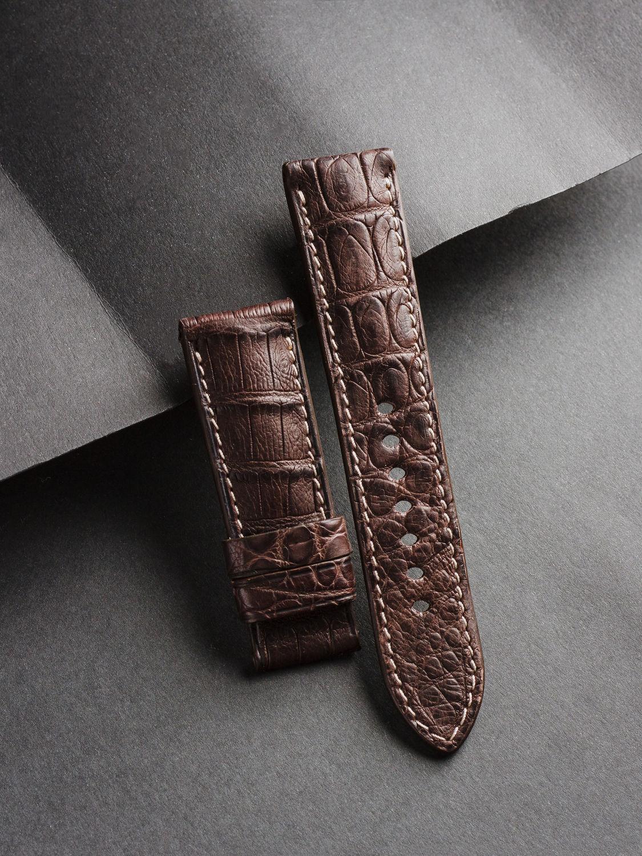 Crocodile Leather Watchband (16), Watch Straps, St. Petersburg,  Фото №1