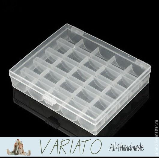 Органайзеры для рукоделия ручной работы. Ярмарка Мастеров - ручная работа. Купить Органайзер (бокс) для шпулек пластик прозрачный. Handmade.