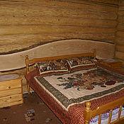 Для дома и интерьера ручной работы. Ярмарка Мастеров - ручная работа Дубовый слэб из широкой необрезной доски дуба для кровати. Handmade.