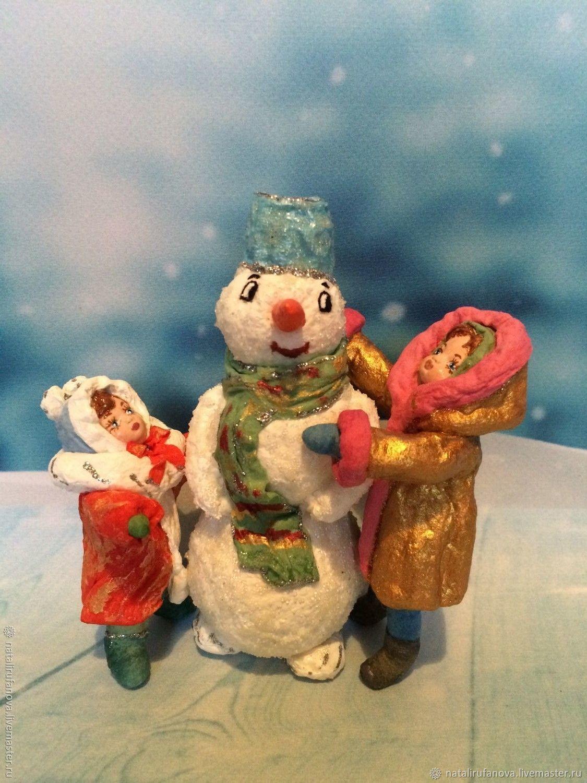 "Продана! Ватная игрушка "" Лепим снеговика"", Снеговики, Москва,  Фото №1"