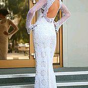 Платья ручной работы. Ярмарка Мастеров - ручная работа Свадебное платье крючком. Handmade.
