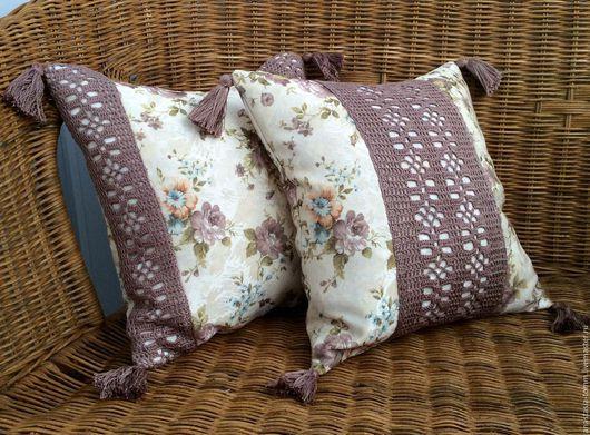 """Текстиль, ковры ручной работы. Ярмарка Мастеров - ручная работа. Купить Подушки """"Provence"""" комплект. Handmade. Бежевый, диванные подушки"""