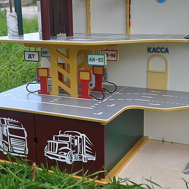 Dolls & toys handmade. Livemaster - original item Garage for cars. Parking.. Handmade.