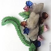 """Украшения handmade. Livemaster - original item Brooch of the beads with amethyst """"Bouquet (Wildflowers)"""". Handmade."""