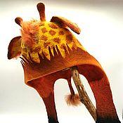 Аксессуары handmade. Livemaster - original item Caps: Giraffe. Handmade.