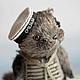 Мишки Тедди ручной работы. Ярмарка Мастеров - ручная работа. Купить Морячок. Handmade. Серый, тедди кошка, вискоза.