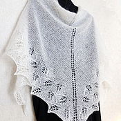 Аксессуары handmade. Livemaster - original item White lace shawl Downy Bacchus First snow knitting shawl. Handmade.