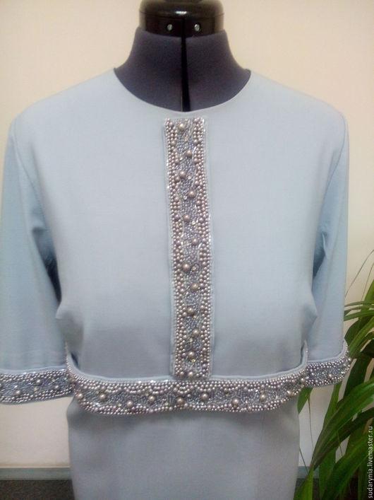 Платья ручной работы. Ярмарка Мастеров - ручная работа. Купить Серое платье. Handmade. Серый, тесьма для отделки, шерстяная ткань