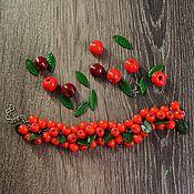 Украшения ручной работы. Ярмарка Мастеров - ручная работа Браслет с рябиной. Handmade.