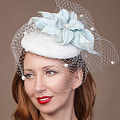 Свадебный салон ручной работы. Ярмарка Мастеров - ручная работа Свадебная шляпка вуалетка. Handmade.