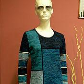"""Одежда ручной работы. Ярмарка Мастеров - ручная работа Джемпер """"Меланжевая геометрия"""". Handmade."""