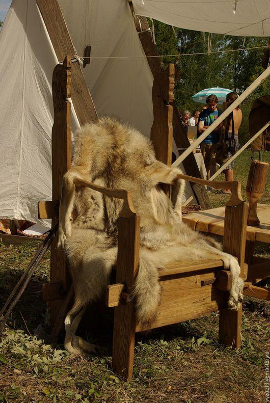 Мебель ручной работы. Ярмарка Мастеров - ручная работа. Купить Трон - стул, походный. Handmade. Трон, реконструкция