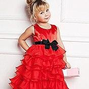 Работы для детей, ручной работы. Ярмарка Мастеров - ручная работа Скарлетт нарядное платье. Handmade.