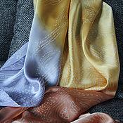 """Аксессуары ручной работы. Ярмарка Мастеров - ручная работа Шелковый шарф """"Три цвета"""" (батик). Handmade."""
