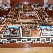 """Для дома и интерьера ручной работы. Ярмарка Мастеров - ручная работа Покрывало """"Хозяева саванн"""". Handmade."""