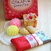 """Косметика ручной работы. Ярмарка Мастеров - ручная работа Набор мыла """"Моей сладкой конфетке"""" (большой). Handmade."""