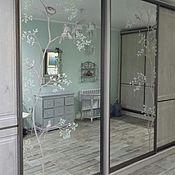 Дизайн и реклама ручной работы. Ярмарка Мастеров - ручная работа Роспись на зеркалах птички. Handmade.