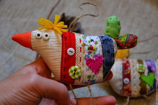 Игрушки животные, ручной работы. Ярмарка Мастеров - ручная работа. Купить Птички. Handmade. Комбинированный, птица счастья, подвеска