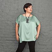 Одежда handmade. Livemaster - original item Tunic silk mint. Art.1065. Handmade.