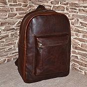 Сумки и аксессуары handmade. Livemaster - original item Men`s backpack made of genuine Banksy leather. Handmade.