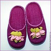 """Обувь ручной работы. Ярмарка Мастеров - ручная работа Тапочки """"Цветочки"""". Handmade."""
