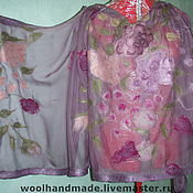 Аксессуары handmade. Livemaster - original item Stole made of silk Blossomed garden. Handmade.