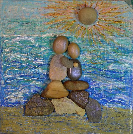 При приобретении картины `Встреча на море` книга поэм-сказок `Колечко` и `Брошь` Галины Горюновой  в подарок. Данная картина использована в этой книге в качестве фоторепродукции.