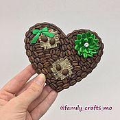 Магниты ручной работы. Ярмарка Мастеров - ручная работа Магнит «Сердце» из кофейных зёрен. Handmade.