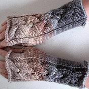 Аксессуары ручной работы. Ярмарка Мастеров - ручная работа Митенки,перчатки без пальцев (бежевый, коричневый,серый). Handmade.