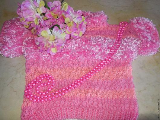 Одежда для девочек, ручной работы. Ярмарка Мастеров - ручная работа. Купить Легкая кофточка Зефирка. Handmade. Розовый, кофта