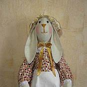 Куклы и игрушки ручной работы. Ярмарка Мастеров - ручная работа Зайка пакетница -пижамница. Handmade.