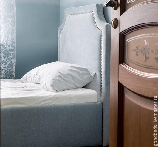 Мебель ручной работы. Ярмарка Мастеров - ручная работа. Купить Кровать Нежная с декором. Handmade. Голубой, мебель ручной работы