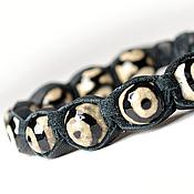 Украшения handmade. Livemaster - original item Shamballa bracelet EYE leather. Handmade.