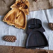 Plates handmade. Livemaster - original item Wooden plate Darth Vader. Handmade.