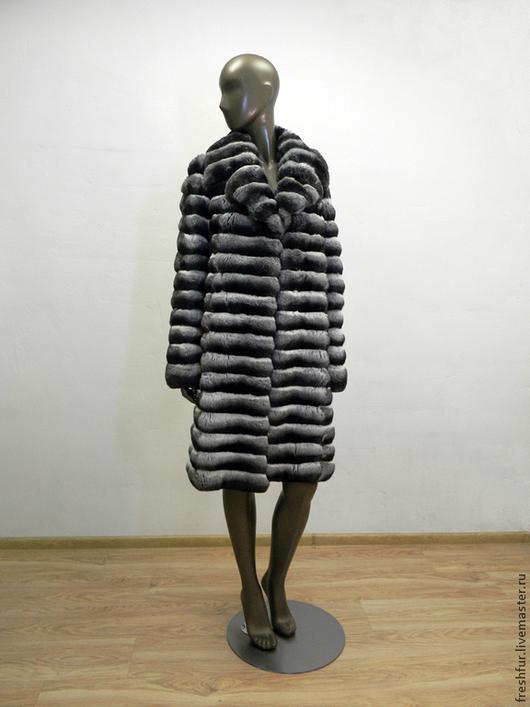 Верхняя одежда ручной работы. Ярмарка Мастеров - ручная работа. Купить Пальто из шиншиллы. Handmade. Черный, пальто из шиншиллы