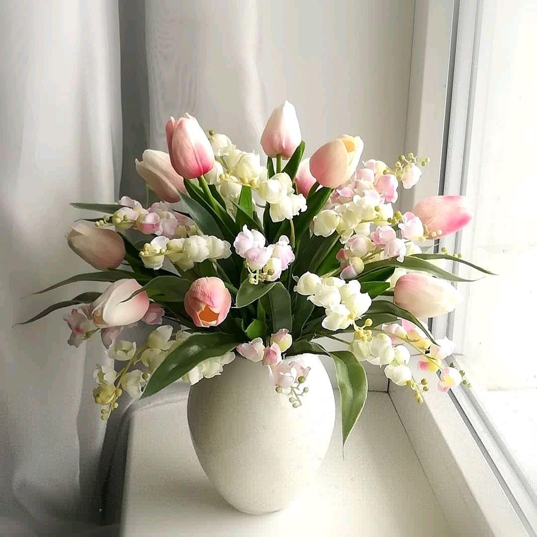 """""""Нежность"""". Букет цветов в вазе, Композиции, Елец,  Фото №1"""