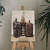 Картины и панно handmade. Livemaster - original item Highlanders and honey. Still life. Oil painting.. Handmade.