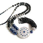 Украшения handmade. Livemaster - original item With pendant of onyx with crystal tassel. Handmade.
