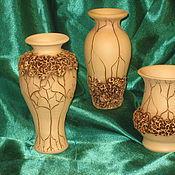 Для дома и интерьера ручной работы. Ярмарка Мастеров - ручная работа Керамическая ваза Сирень. Handmade.