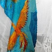 Палантины ручной работы. Ярмарка Мастеров - ручная работа Жар птицы- исполнение желаний Палантин валяный. Handmade.