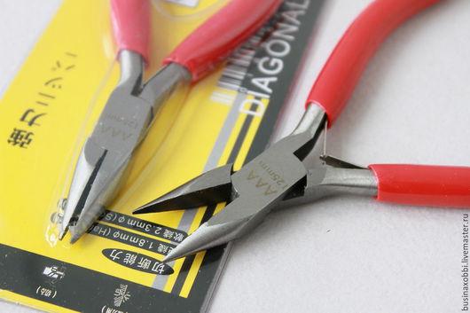 Профессиональный инструмент для сборки бижутерии плоскогубцы с узкими и гладкими рабочими поверхностями - узкогубцы