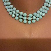 handmade. Livemaster - original item Beads vintage necklace CZECHOSLOVAKIA CZECH GLASS long vintage 1950s. Handmade.