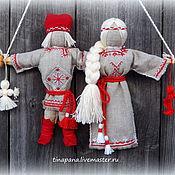 """Куклы и игрушки ручной работы. Ярмарка Мастеров - ручная работа """"Неразлучники"""" с вышивкой. Handmade."""