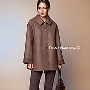 handmade. Livemaster - original item The author`s coat Merino wool