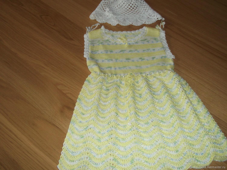 Вязаное платье для девочки ( 2 )