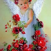 Картины и панно ручной работы. Ярмарка Мастеров - ручная работа Ангелочек 4. Handmade.