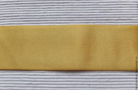Шитье ручной работы. Ярмарка Мастеров - ручная работа. Купить Резинка декоративная золотистая мягкая 5см. Handmade. Резинка